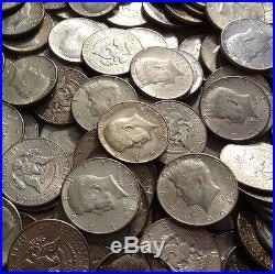 $100 Face 1964 Kennedy 90% Silver Half Dollars (200 halves) FREE shipping