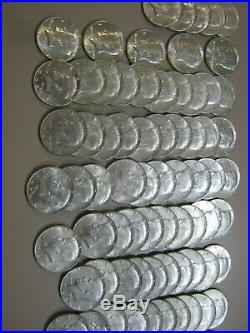 100 Kennedy 40% Silver Half Dollars-no Junk-$50 Face+gift! -many Are Very Nice