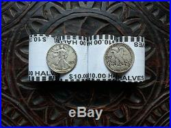 $100 in Kennedy Half Dollar Coin Rolls + Ten (10) Silver Walking Liberty Coins