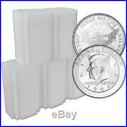 100 pc 1 oz. Highland Mint Silver Round Kennedy Half Dollar. 999 5 Tubes of 20