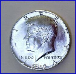 $10 1964 Kennedy Half-Dollars 90% Silver 20-Coin Roll (BU) Free Shipping