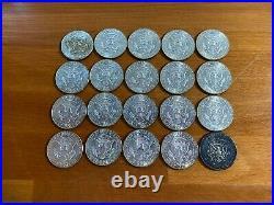 $10 1964 Kennedy Half-Dollars 90% Silver 20-Coin Roll (BU) Uncirculated