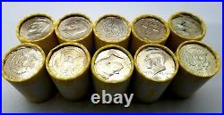 10 Unsearched Rolls Of Kennedy Half Dollars, Bank Sealed, $100 Face Value