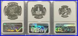 1776 1976 S Ngc Pf69 Ultra Cameo Proof Set Washinton Quarter Kennedy Half & Ike