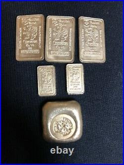 1885 Morgan Dollar CC, & 4 Kennedy Half Dollars, 2 Steel Pennies, & Silver Bars