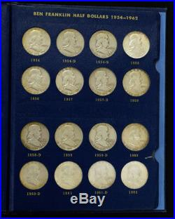 1948-68 50c FRANKLIN & KENNEDY HALF DOLLARS IN WHITMAN ALBUM (42 COINS) LOT#D657