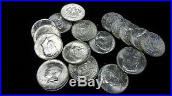 1964D Kennedy Half Dollar roll UNC Roll of 20 90% Silver US coins