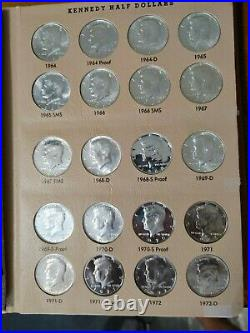 1964-1991 P, D, S Kennedy Half Dollar Set in Dansco Album 76 Coins Proof & Silver