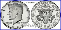1964 2014 2017 2018 2019 Kennedy Half Dollar Set PROOF/REVERSE PROOF/ENHANCED