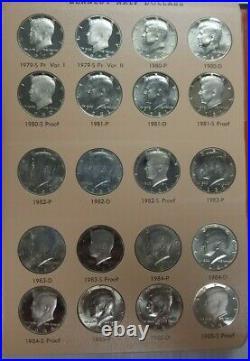 1964-2016 Proof & Unc Kennedy Half Dollar 175pc Set in Dansco Album + 1998 Matte