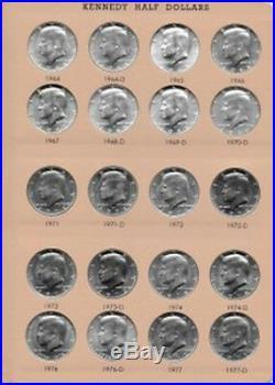 1964-2017 COMPLETE P AND D BU/Satin Finish Kennedy Half Dollar Set- Dansco Album
