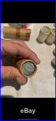 1964 20$ Kennedy Half Dollar Shotgun Roll UNC 90%silver (40 Coins) Toned Ender