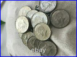 1964 90% SILVER US Mint Coin Average Circulation Lots Kennedy Halves AG