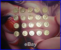 1964 90% Silver Kennedy Half Dollars Lot 20 coins in each lot