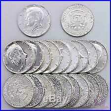 1964 90% Xf/ Au Kennedy Half Dollar Roll (20 Coins $10 Face) 90% Silver. 900 041
