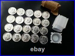 1964 BU Uncirculated 20 Coins 90% Silver Kennedy Half Dollars Roll Bank Roll