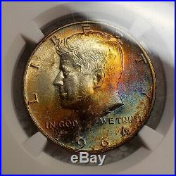 1964-D Kennedy Half Dollar MS63 NGC MONSTER TONED BOTH SIDES