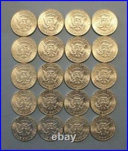 1964-D Kennedy Silver Half Dollar Roll Brilliant Uncirculated, BU (20 Coins) $10