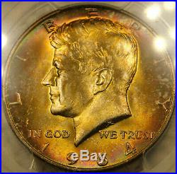 1964 D Silver Kennedy Half Certified PCGS Superb GEM MS67 PQ Toning