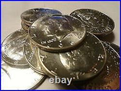 1964 Gem Original Bu Roll Of 20 90% Kennedy Half Dollars