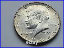 1964 Kennedy D Silver Half Dollar Coin US Circulated SILVER Great Shape Estate 1