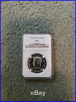 1964 Kennedy Half Dollar, ACCENTED HAIR, PROOF-67! RARE