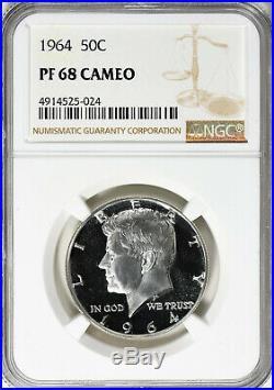 1964 Kennedy Half Dollar NGC PF-68 CAMEO