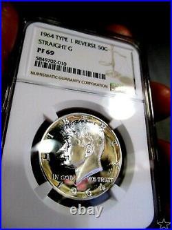 1964 Kennedy Half Dollar Pr 69 Cameos Spotless Pq Gem Low Pop Only 29 Coins