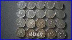 1964 Kennedy Half Dollar Roll 20 Kennedy Half Dollars 90 Percent Silver