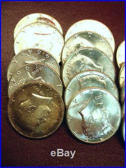 1964 Kennedy Half Dollar Roll Nice, Lustrous Original Bu Coins