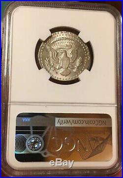 1964 Kennedy Half Dollar Struck On Quarter Planchet Ngc Ms65 Silver Mint Error