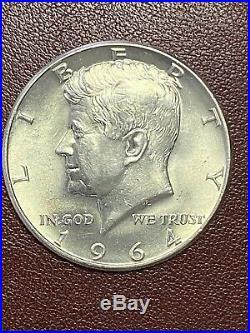 1964 Kennedy Half Dollar roll of 20 Brilliant Uncirculated, Free Shipping