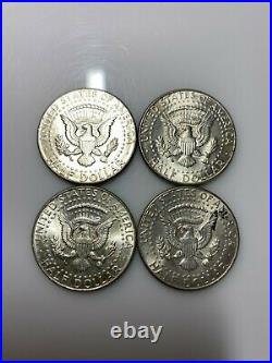 1964 Kennedy Half Dollars 90% Silver Coins Roll of 20 Coins $10 Face Value
