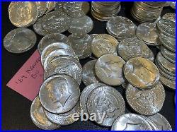 1964 Kennedy Half Dollars BU Roll of 20 Coins $10 Face Value, 90% Silver