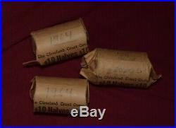 1964 Kennedy Half Dollars Lot of 60 3 Rolls 90% Silver
