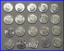 1964 Kennedy Half Dollars Roll of 20 182