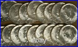 1964 Kennedy Half Dollars Roll of (20) 90% Silver UNC M-2603