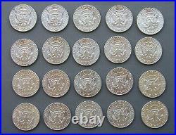 1964 Kennedy Half Dollars Roll of 20 BU 163