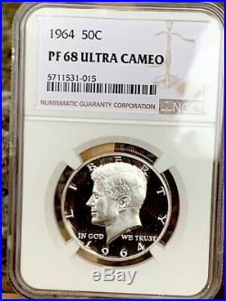1964 Kennedy Half NGC PF 68 Ultra Cameo Exquisite