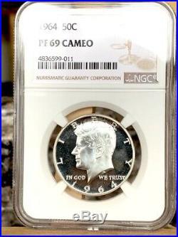 1964 Kennedy Half NGC PF 69 Cameo Super Nice
