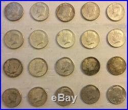 1964 Kennedy Half dollar roll of 20 90% Silver Coins