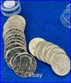 1964 Kennedy Silver BU Half Dollar $10 Roll