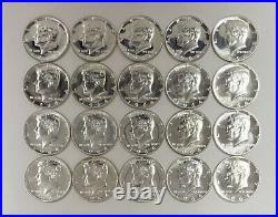 1964 Kennedy Silver Half Dollar Roll of 20 Coins Gem Proof
