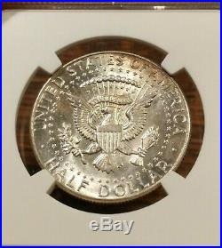 1964 NGC MS63 Kennedy Half Dollar Wild Neon EOR End Roll Rainbow Toned Colors