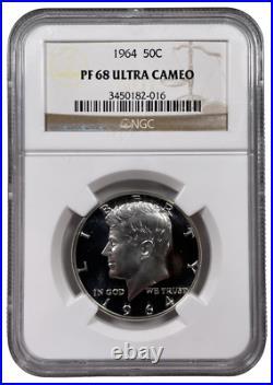 1964 NGC PF68 Ultra Cameo Kennedy Half Dollar UCAM PR PROOF DCAM Silver GEM 2016