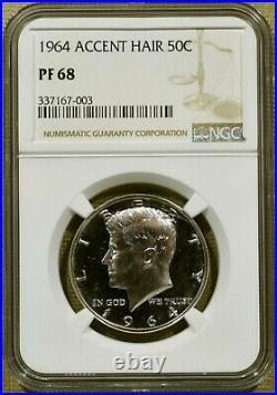 1964 NGC PR68 (PF68) Accented Hair Kennedy Half Dollar