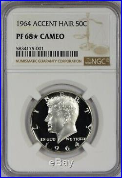1964 NGC PR68 (Star) CAM Accented Hair Kennedy Half Dollar So Close to UCAM