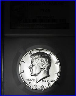 1964 PF68 Accented Hair Kennedy Half Dollar 50c Proof, NGC Graded PR68