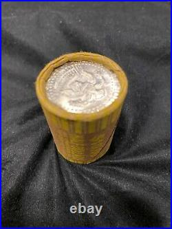 1964-P Kennedy Half Dollar 20-Coin Roll BU SOLID DATE BANK WRAPPED 90% Silver