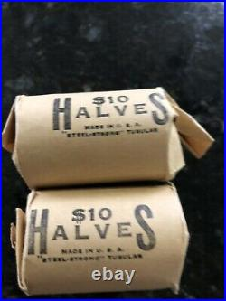 1964-P Kennedy Half Dollar 20-Coin Roll Uncirculated BANK WRAPPED 90% Silver